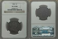 1803 DRAPED BUST LIBERTY HEAD DESIGN SMALL DATE LARGE FRACTION CENT NGC VG 10 BN