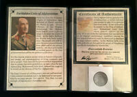 FORBIDDEN COIN OF AFGHANISTAN 5 AFGHANIS 1961   COA & HISTORY & ALBUM INCLUDED