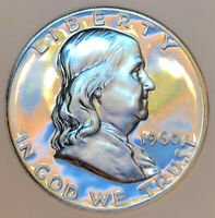 1960 FRANKLIN PROOF  MIRRORS AS WATERY AS THE OCEAN  FLAWLES