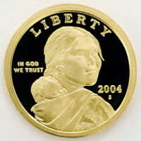2004 PROOF SACAJAWEA  EXCEPTIONAL DCAM  HUGE THICK CAMEO  TO