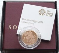 2018 ROYAL MINT ST GEORGE AND THE DRAGON GOLD PROOF FULL SOVEREIGN COIN BOX COA