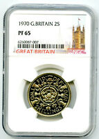 1970 GREAT BRITAIN 2 SHILLINGS FLORIN NGC PF65 PROOF COIN