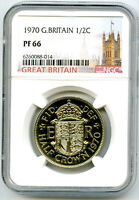 1970 GREAT BRITAIN 2 SHILLINGS FLORIN NGC PF66 PROOF COIN
