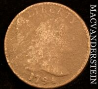 1794 LIBERTY CAP FLOWING HAIR LARGE CENT   HEAD OF '95   SCA