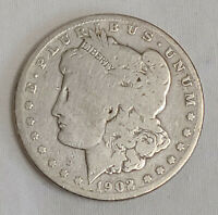 1902 S $1 MORGAN SILVER DOLLAR KEY DATE US CURRENCY SAN FRANCISCO MINT COIN