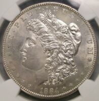 1884 S MORGAN SILVER DOLLAR   CHOICE KEY UNCIRCULATED NGC MINT STATE 64 DETAILS