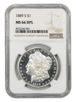 1889-S $1 NGC MINT STATE 66 DMPL - TIED FOR FINEST KNOWN - MORGAN SILVER DOLLAR