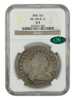 1800 $1 NGC/CAC GOOD-04 B-12, BB-184 AFFORDABLE EARLY BUST DOLLAR