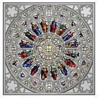 ROSE WINDOW OF WESTMINSTER ABBEY 150G PROOF SILVER COIN 15$