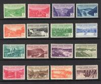 CANAL ZONE 1939 COMPLETE SET   OG MNH    SC 120 135   CATS $