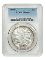1904-O $1 PCGS MINT STATE 66 UNDERRATED DATE - MORGAN SILVER DOLLAR - UNDERRATED DATE