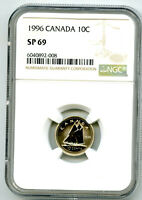 1996 CANADA 10 CENT DIME NGC SP69 POP ONLY 13