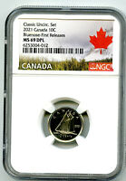 2021 CANADA 10 CENT BLUENOSE DIME NGC MS69 DPL FIRST RELEASE