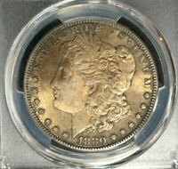 1880-S MORGAN SILVER DOLLAR  PCGS MINT STATE 62 BEAUTIFUL TONED COIN REF9822