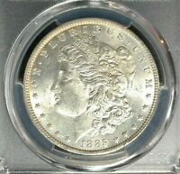 1885-O MORGAN SILVER DOLLAR  PCGS MINT STATE 62 BEAUTIFUL COIN REF3712
