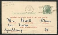 POSTAL CARD SCOTT UX27 WWII RATION BOOK CHRISTMAS CARD