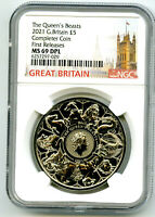 2021 GREAT BRITAIN 5PD QUEEN'S BEASTS COMPLETER COIN NGC MS6