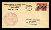 DR JIM STAMPS US COVER YORKTOWN FDC SCOTT 703 WETHERSFIELD C