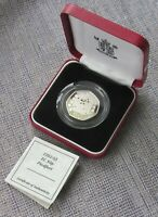 1992 SILVER PROOF PIEDFORT 50P  FIFTY PENCE  COIN CASED WITH
