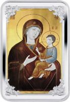ICON OF TIKHVIN MOTHER OF GOD PROOF SILVER COIN 1$ NIUE 2014