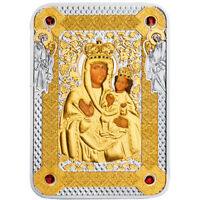 ICON OF ZARVANYSIA MOTHER OF GOD PROOF SILVER COIN 1$ NIUE 2