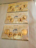 3 SETS 2007,08,09 FIRST SPOUSE MEDAL SETS-COINS IN ORIGINAL PLASTIC