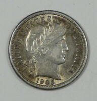 1905-S BARBER DIME ALMOST UNCIRCULATED SILVER 10C