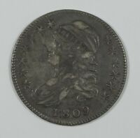 1809 CAPPED BUST/LETTERED EDGE HALF DOLLAR EXTRA FINE SILVER 50C