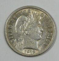 1912-D BARBER DIME ALMOST UNCIRCULATED SILVER 10C
