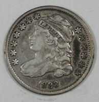 1833 CAPPED BUST SILVER DIME EXTRA FINE 10C