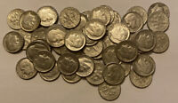 1960 1963 ROOSEVELT DIMES 90  SILVER. 1 ROLL 50 COIN LOT.
