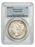 1879-CC $1 PCGS AU55 CAPPED DIE KEY DATE FROM CARSON CITY