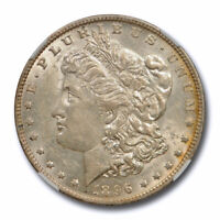 1896 O $1 MORGAN DOLLAR NGC AU 58 ABOUT UNCIRCULATED NEW ORLEANS MINT ORIGINAL