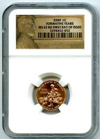 2009 US MINT CENT FORMATIVE YEARS PENNY NGC MS65 RD LINCOLN