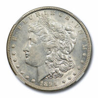 1894 O $1 MORGAN DOLLAR NGC AU 55 ABOUT UNCIRCULATED SITE WHITE APPROVED