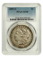 1895-O $1 PCGS EXTRA FINE 40 - KEY DATE FROM NEW ORLEANS - MORGAN SILVER DOLLAR