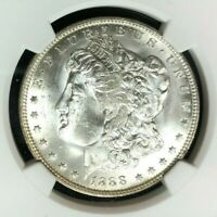 1888-O MORGAN SILVER DOLLAR  NGC MINT STATE 63 BEAUTIFUL COIN REF60-050