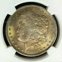 1888-O MORGAN SILVER DOLLAR  NGC MINT STATE 64 BEAUTIFUL COIN REF60-048