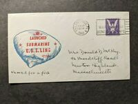 SUBMARINE USS LING SS 297 NAVAL COVER 1943 WWII LAUNCH CACHE