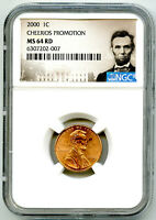 2000 US MINT CENT CHEERIOS PROMOTION CLOSE 'AM' NGC MS64 RD
