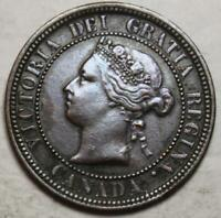 CANADA 1876H LARGE CENT NICE GRADE OLD DATE QUEEN VICTORIA