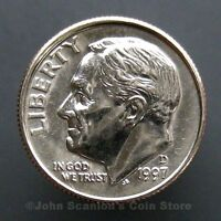 1997 D ROOSEVELT DIME 10C US MINT COIN CHOICE BU