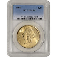 US GOLD $20 LIBERTY HEAD DOUBLE EAGLE   PCGS MS62   RANDOM DATE