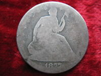 1877 S SEATED LIBERTY SILVER HALF DOLLAR BETTER DATE HISTORIC COIN!