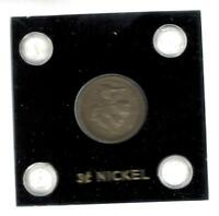 1865  USA 3 CENT NICKEL  COIN