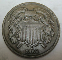 CIVIL WAR ERA 1866 TWO CENT   64B
