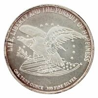 CHRYSLER CORP THE BILL OF RIGHTS 1791 1991 1 TROY OZ .999 FINE SILVER MEDALLION