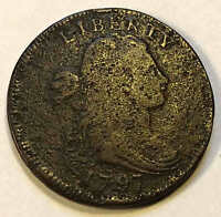 1797 DRAPED BUST LARGE CENT GRIPPED EDGE SHARP   SHIPS FREE