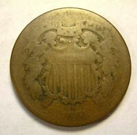 1865 TWO CENT CIVIL WAR EARLY DATE SHIPS FREE