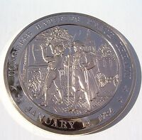 1784 CONGRESS RATIFIES PEACE TREATY   FRANKLIN MINT SOLID BRONZE MEDAL